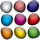 Jelly Beans. An arrangement of colorful shapes that look just like jelly beans Royalty Free Stock Photos