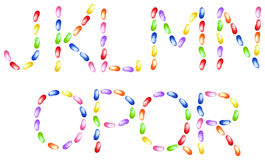 Jelly beans alphabet Royalty Free Stock Photo