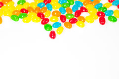 Jelly beans border Stock Photo