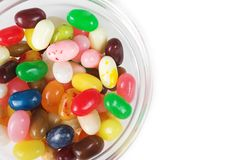 Jelly beans in a bowl Royalty Free Stock Images