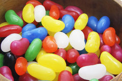 Jelly Beans in Bowl Stock Image