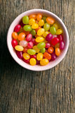 Jelly beans in bowl Stock Photo