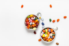 Jelly beans, bowls Stock Photography