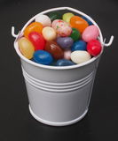 Jelly Beans And Bucket Imagem de Stock Royalty Free
