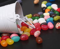 Jelly Beans And Bucket Foto de archivo