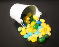 Jelly Beans And Bucket Royalty Free Stock Photos
