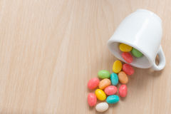 Jelly beans candy. Royalty Free Stock Images