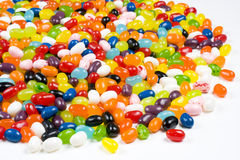 Jelly Beans Candy on White Background Stock Photo