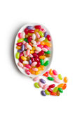 Jelly beans in bowl Stock Images