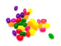 Jelly Beans colorée (fond blanc) Images libres de droits