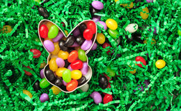 Jelly beans in a easter cookie cutter Stock Photography