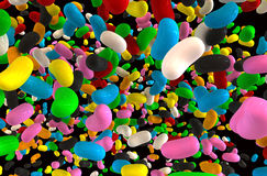 Jelly Beans Falling Stock Photo