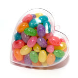 Jelly Beans Filled Heart Royalty Free Stock Image