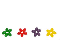 Jelly beans flowers border Stock Images