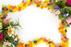 Jelly beans frame Stock Image