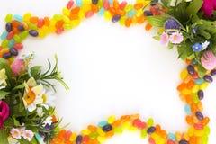 Jelly beans frame stock image