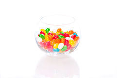 Jelly beans in a glass bowl Stock Photos