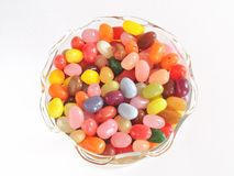 Jelly Beans in Glass Bowl Royalty Free Stock Image