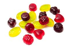 Jelly beans gummy royalty free stock photo