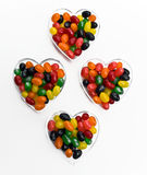 Jelly Beans in Hearts Royalty Free Stock Images