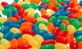 Jelly beans isolated Stock Photography