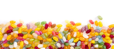 Jelly Beans (isolated on white) Royalty Free Stock Photos