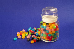 Jelly Beans Jar Royalty Free Stock Photo