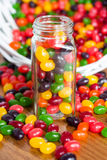 Jelly Beans In a Jar Stock Image