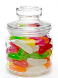 Jelly beans in a jar Royalty Free Stock Photos