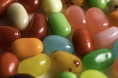 Jelly Beans. For easter shot close up on a white background Royalty Free Stock Photos