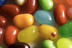 Jelly Beans. For easter shot close up on a white background Stock Photos