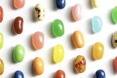 Jelly Beans. For easter shot close up on a white background Royalty Free Stock Photo