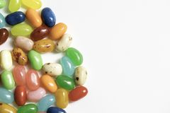 Jelly Beans. For easter shot close up on a white background Royalty Free Stock Image