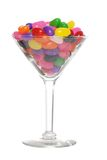 Jelly beans in a martini glass Stock Photos