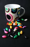 Jelly Beans and Mug Stock Images