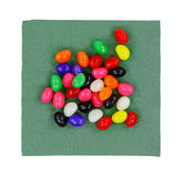 Jelly Beans Napkin Top View Royalty Free Stock Photos