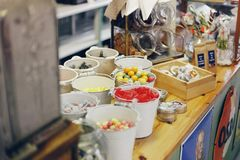 Jelly beans in old store.  stock images