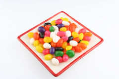 Jelly beans in plate Stock Photos