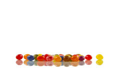Jelly Beans, reflected Stock Photo
