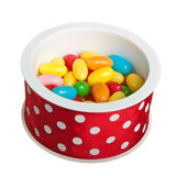 Jelly beans in round box Stock Images