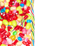 Jelly beans with space to insert text Stock Photography