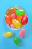 Jelly beans sugar candy Stock Photos