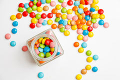 Jelly beans sugar candy snack in a jar Royalty Free Stock Images