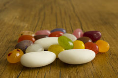 Jelly Beans und Comfits Stockfotos