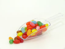 Jelly beans. On white background Stock Images