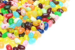 Jelly beans in a white background Stock Image