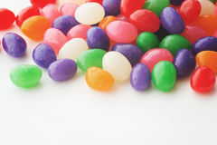 Jelly beans on a white background Stock Images
