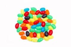Jelly beans on white Stock Photo