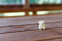 Jelly Bear. On a wooden table, outdoors, in natural light Stock Photos