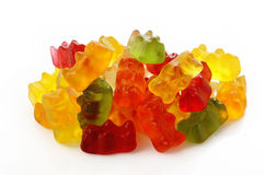 Jelly bears on white Stock Images